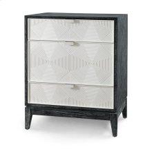 Borneo 3-Drawer Side Table, Black