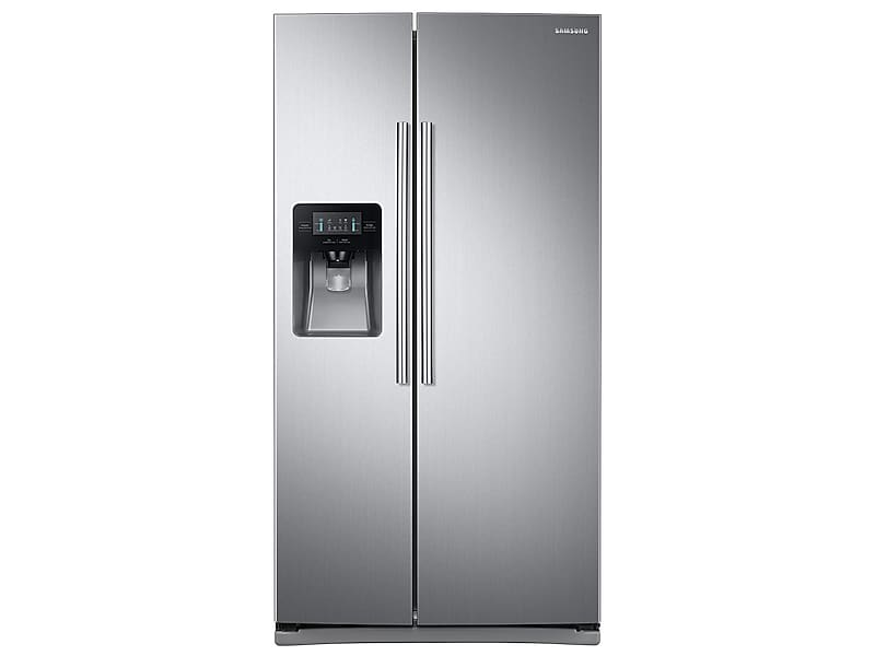 Samsung25 Cu. Ft. Side-By-Side Refrigerator With Led Lighting In Stainless Steel