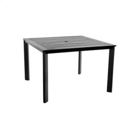 """45"""" Sq. Aluminum Slatted Top Dining Table"""
