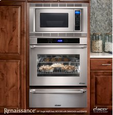 """Renaissance 30"""" Singl.e Wall Oven in Black Glass - ships with Epicure Style black handle"""