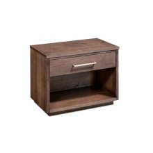 Ironwood Nightstand with Opening, Extra Wide