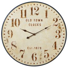 "Distressed ""Old Town Clocks"" Wall Clock"