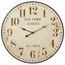 """Distressed """"Old Town Clocks"""" Wall Clock"""