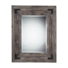 RECTANGLE MIRROR IN DISTRESSED WOOD