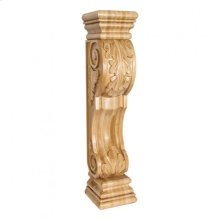"8"" X 8"" X 36"" Acanthus Wood Fireplace / Mantel Corbel, Species: Alder"