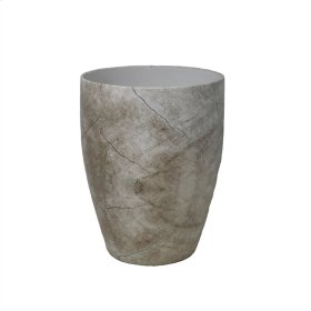 Cracked-look Beige Vase 11.5""