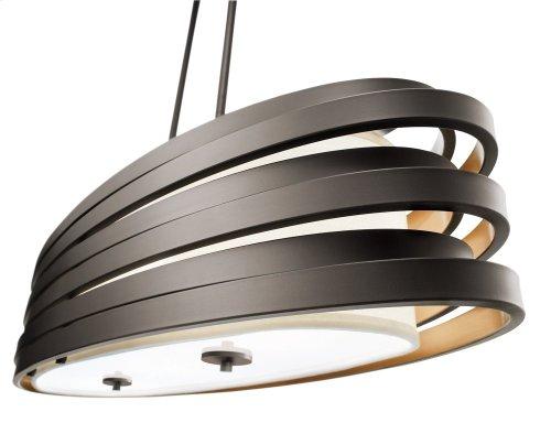 Roswell 3 Light Oval Chandelier Olde Bronze®
