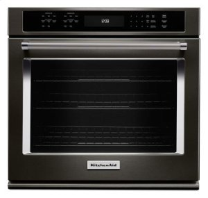 "27"" Single Wall Oven with Even-Heat True Convection - Black Stainless"