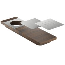 Presentation board 210070 - Walnut Stainless steel sink accessory , Walnut