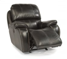 MacKay Leather Power Gliding Recliner