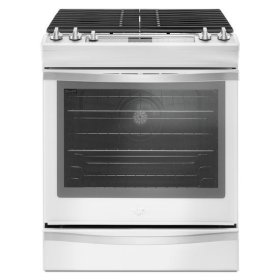 Whirlpool® 5.8 Cu. Ft. Slide-In Gas Range with EZ-2-Lift Hinged Grates - White Ice