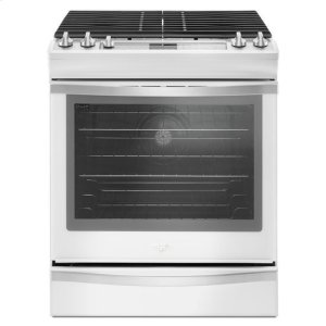 Whirlpool® 5.8 Cu. Ft. Slide-In Gas Range with EZ-2-Lift™ Hinged Grates - White Ice - WHITE ICE
