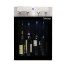 """The Vinotemp WineSteward """" Four-Bottle Wine Dispenser (Stainless)"""