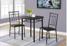 DINING SET - 3PCS SET / BLACK METAL AND TOP Product Image