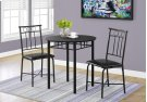 DINING SET - 3PCS SET / BLACK METAL AND TOP Product Image