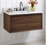 "m4 36"" Wall Mount Vanity - Natural Walnut Product Image"