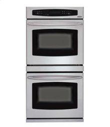 """Brushed Stainless Steel 30"""" Double Wall Oven"""