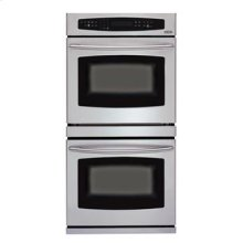 "Brushed Stainless Steel 30"" Double Wall Oven"