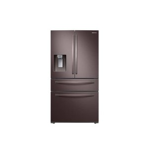 Samsung28 cu. ft. Food Showcase 4-Door French Door Refrigerator in Tuscan Stainless Steel