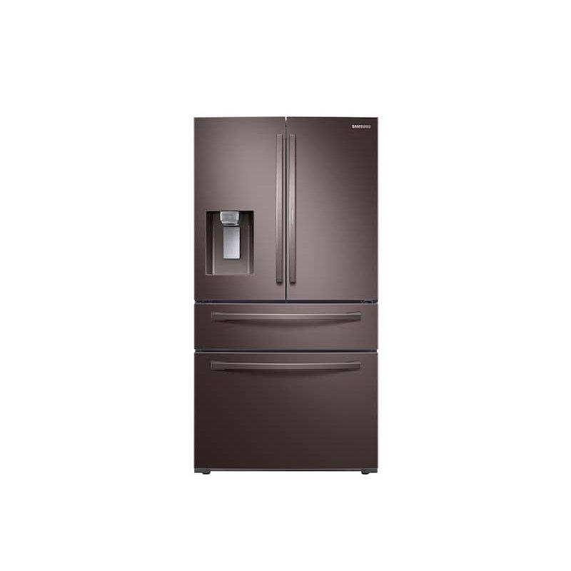 28 cu. ft. Food Showcase 4-Door French Door Refrigerator in Tuscan Stainless Steel