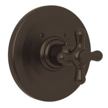 Tuscan Brass Verona Thermostatic Trim Plate Without Volume Control with Verona Series Only Cross Handle