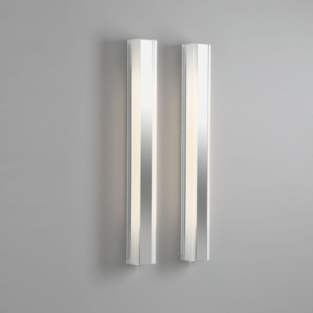 "Additional 3-1/2"" X 40"" Vertical Fluorescent Light In Black"