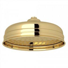 "Unlacquered Brass Perrin & Rowe 8"" Rain Showerhead"