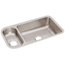 "Elkay Lustertone Classic Stainless Steel 32-1/4"" x 18-1/4"" x 7-3/4"", 30/70 Double Bowl Undermount Sink"