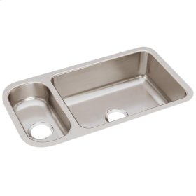 """Elkay Lustertone Classic Stainless Steel 32-1/4"""" x 18-1/4"""" x 7-3/4"""", 30/70 Double Bowl Undermount Sink"""