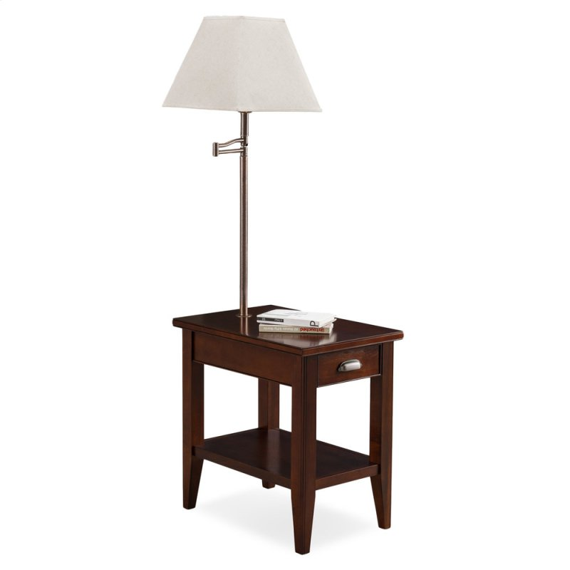 Lau Chairside Lamp Table With Ecru Shade 10537
