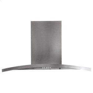 "GE Profile36"" Island-Mount Chimney Hood"