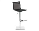 Travis Adjustable Barstool - Black Product Image