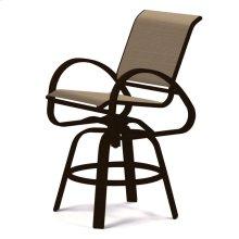 Aruba Sling Balcony Height Swivel Cafe Chair