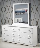 White Dresser With Mirror Product Image