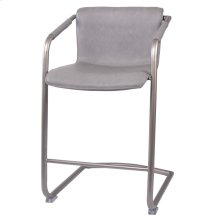 Indy PU Counter Stool Silver Frame, Antique Graphite Gray