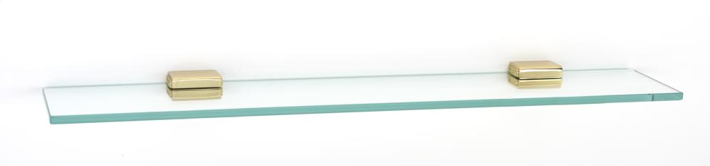 Cube Glass Shelf A6550-24 - Polished Brass