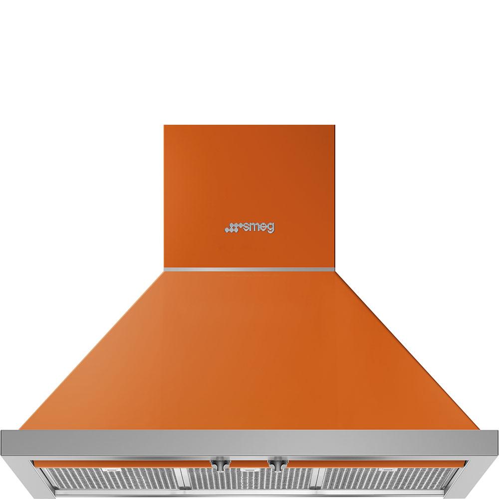 """Smeg30"""" Portofino Chimney Hood, Orange"""
