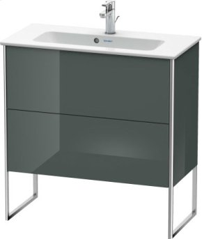 Vanity Unit Floorstanding Compact, Dolomiti Gray High Gloss Lacquer