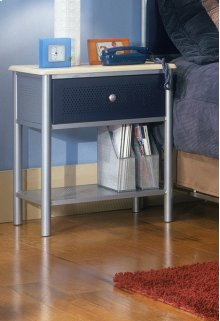 Universal Nightstand Silver and Navy