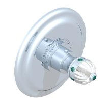 "Trim With Round Plate for THG Thermostat, REFS.5100A 1/2"" & 5200a 3/4"""