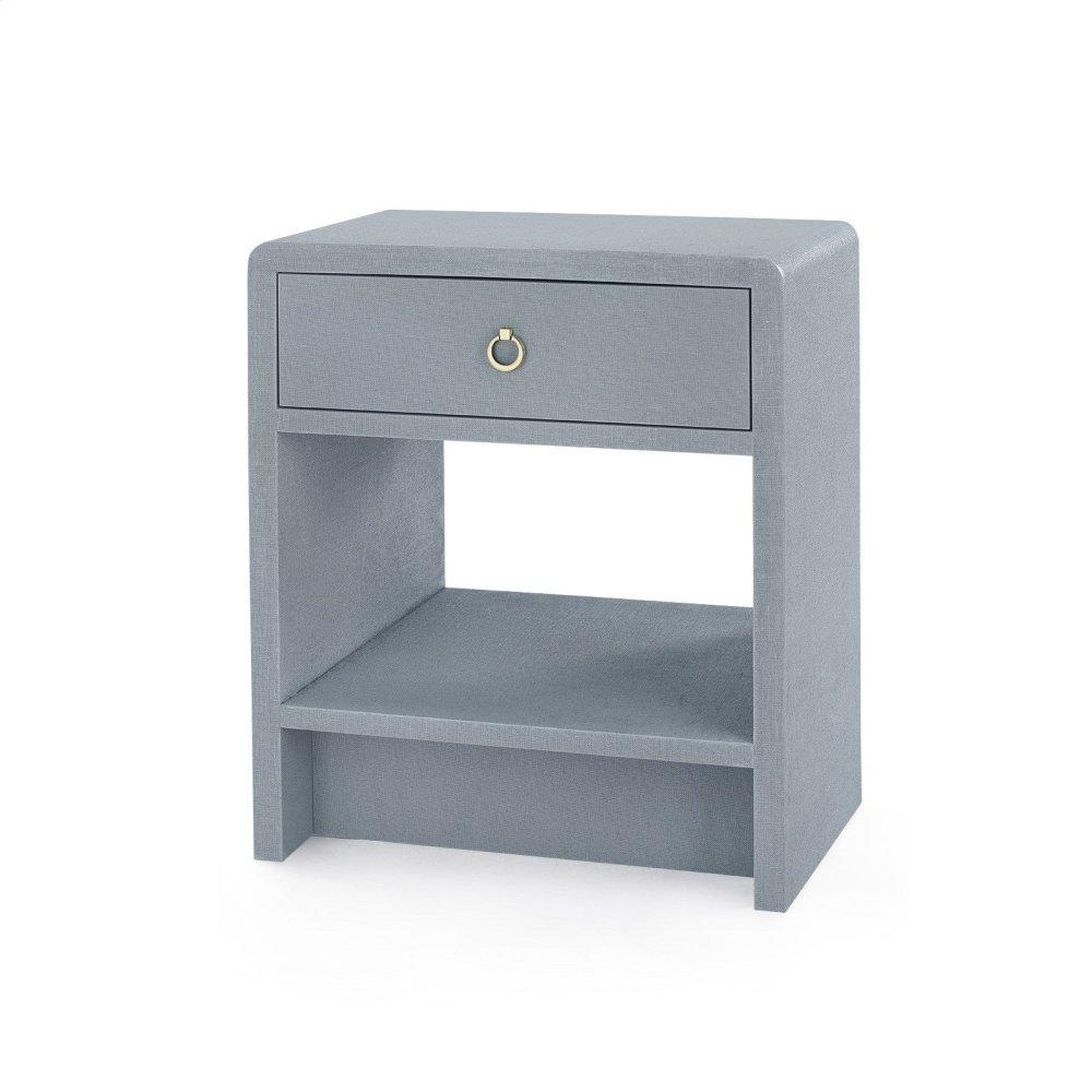 Benjamin 1-Drawer Side Table, Gray