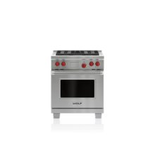 "30"" Dual Fuel Range - 4 Burners"