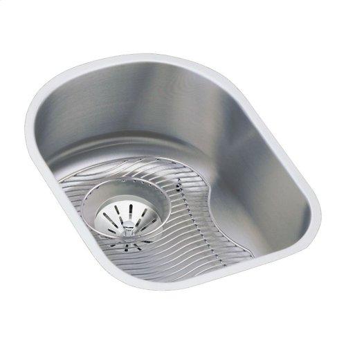 "Elkay Lustertone Classic Stainless Steel 14"" x 17-1/2"" x 7-1/2"", Single Bowl Undermount Sink Kit"