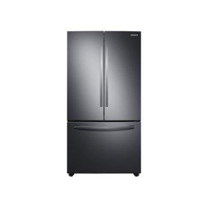 SAMSUNG28 cu. ft. Large Capacity 3-Door French Door Refrigerator with Internal Water Dispenser in Black Stainless Steel