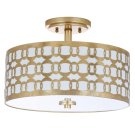 Cedar Linked 3 Light 15-inch Dia Goldflush Mount - Gold Product Image