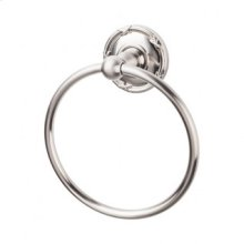 Edwardian Bath Ring Ribbon Backplate - Brushed Satin Nickel