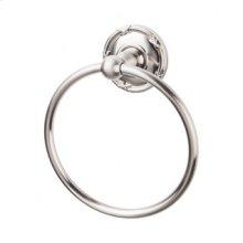 Edwardian Bath Ring Ribbon Backplate - Brushed Satin Nickel