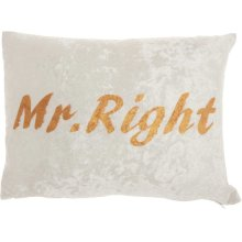 "Luminescence L4006 Ivory 12"" X 18"" Throw Pillows"