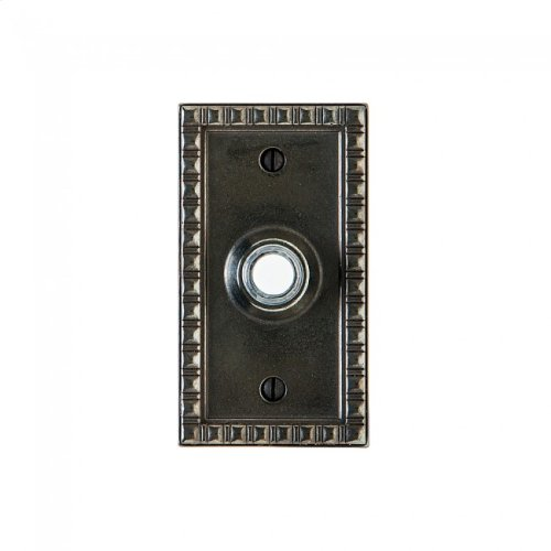 Corbel Rectangular Doorbell Button White Bronze Medium
