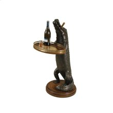 CAST RESIN ALLIGATOR OCCASIONAL TABLE